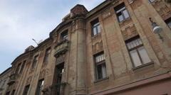 Old building on Republicii street, Brasov Stock Footage