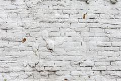 Vintage white background brickwall Stock Photos