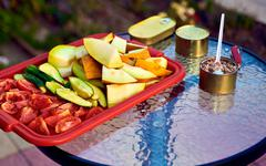 Simple Snack outdoors Stock Photos