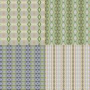set vintage shabby background with classy patterns - stock photo