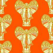African seamless pattern Stock Illustration
