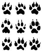 wolf paw - stock illustration