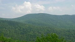 Shenandoah national park forest pan valley Stock Footage
