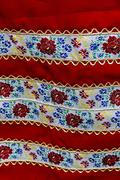 Material with romanian traditional embroidery - stock photo