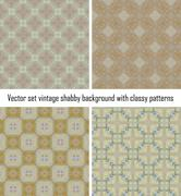 Stock Illustration of Vector set vintage background classical patterns