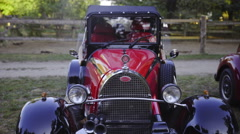 Zoom on vintage ford classic automobile 4K Stock Footage