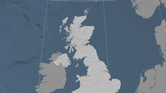 Perthshire And Kinross - Scotland (United Kingdom) extruded. Bumps Stock Footage