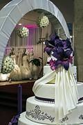 Festive arrangement for wedding Stock Photos