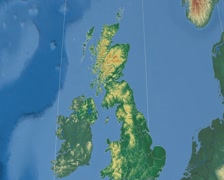 Renfrewshire - Scotland (United Kingdom) extruded. Bumps shaded Stock Footage