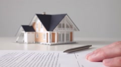 Stock Video Footage of Mortgage contract