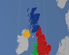 Renfrewshire - Scotland (United Kingdom) extruded. Solids Stock Footage