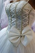 Wedding dress. Detail-19 Stock Photos