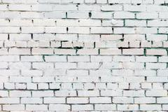 Vintage white background brickwall - stock photo