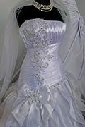 Wedding dress. Detail-47 - stock photo