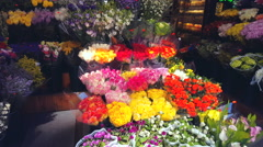 Flower Shop  23Th  Street. 4K Stock Footage