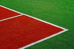 Synthetic sports field 14 Stock Photos