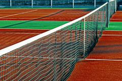 Synthetic sports field for tennis 11 - stock photo