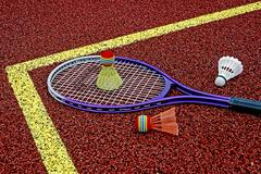 Badminton shuttlecocks & Racket-5 - stock photo