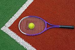 Tennis Balls & Racket-4 Stock Photos