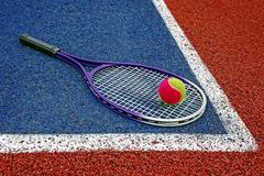 Tennis Balls & Racket-3 Stock Photos