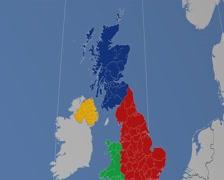 West Dunbartonshire - Scotland (United Kingdom) extruded. Solids Stock Footage