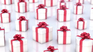 Stock Video Footage of Christmas gifts boxes