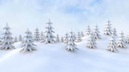 Stock Video Footage of Winter Christmas forest