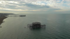 West Pier in Brighton - East Sussex 4K Stock Footage