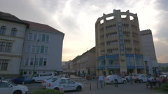 Modarom building, Brasov Stock Footage