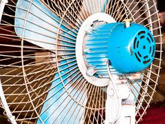 Electric fan. - stock photo