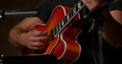 Jazz musician artist play guitar solo Stock Footage