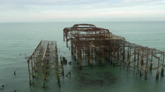 West Pier in Brighton - East Sussex 4K Stock Footage