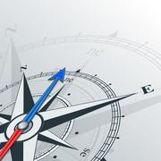 compass northeast - stock illustration