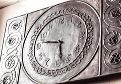 Vintage mechanical watch closeup Stock Photos