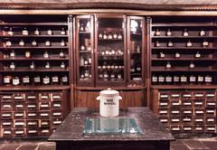 Interior the ancient pharmacy Stock Photos