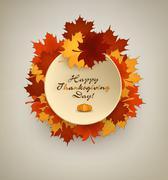 Happy Thanksgiving - stock illustration