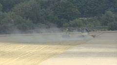 Combine rear dust windy unload 340 - stock footage
