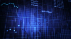 Declining financial chart. Blue and White. Economy background. 2 in 1. Stock Footage