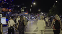 Tourists in Marmaris Marina Stock Footage