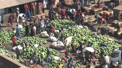Busy African Market Kitwe, Zambia Stock Footage