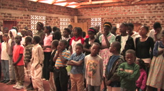 Traditional African Church in Zambia Stock Footage