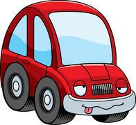Drunk Cartoon Car - stock illustration