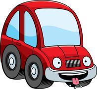 Hungry Cartoon Car Stock Illustration