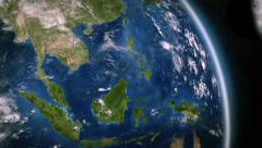 South-east Asia seen from space. 3 in 1. Stock Footage
