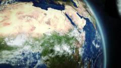 Africa seen from space. 3 in 1. Stock Footage