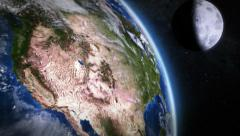 United States seen from space. 2 in 1. Stock Footage