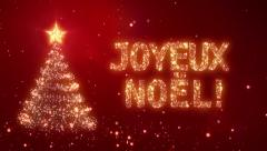 Joyeux Noël! Christmas background with bright snow. Loopable. - stock footage