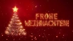 Frohe Weihnachten. Christmas background with bright snow. Loopable. Stock Footage