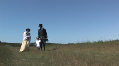 1900th Century Family,  David Livingstone Reenactment Stock Footage