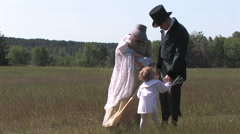 Young 1900th Century Family, David Livingstone Reenactment Stock Footage